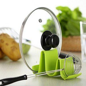 Spoon Rack Pot Pan Lid Rack Holder or the Kitchen